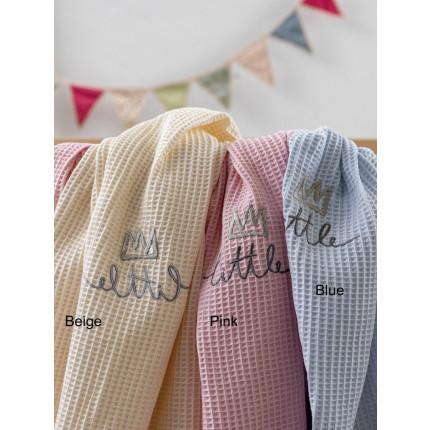 Κουβέρτα Πικέ Κούνιας 100x150 Palamaiki Bebe Blankets