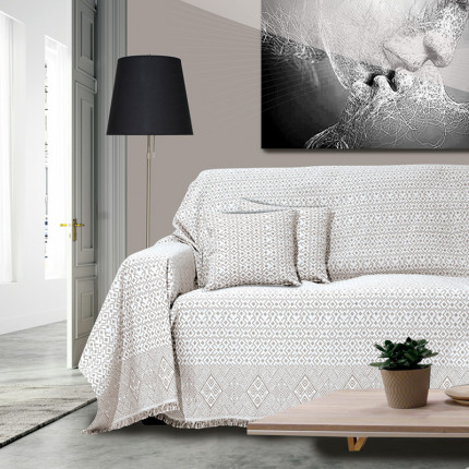 Διακοσμητική Μαξιλαροθήκη 40x40 Sb Home Marsela Taupe Μοκα