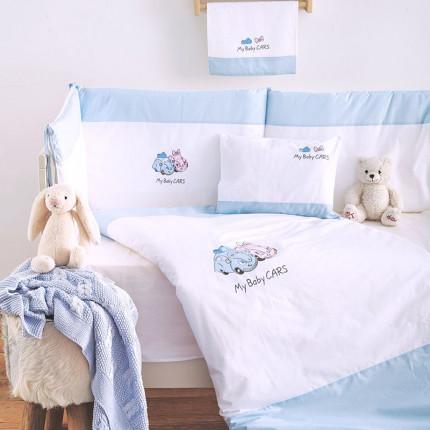 Σετ Κούνιας (3 Τμχ) Sb Home My Baby Cars Blue Μπλε
