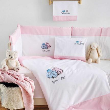 Σετ Κούνιας (3 Τμχ) Sb Home My Baby Cars Pink Ροζ