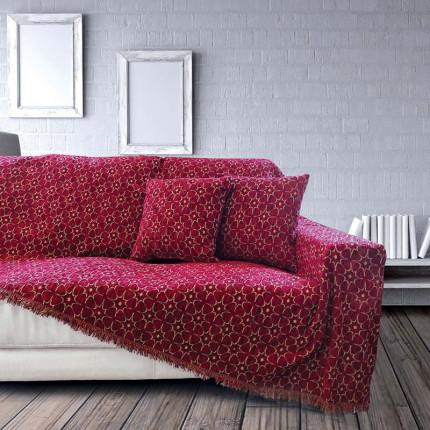Διακοσμητική Μαξιλαροθήκη 40x40 Sb Home Nancy Bordo Μπορντω