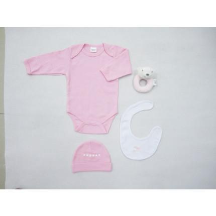 Βρεφικά Ρουχαλάκια (4 Τμχ) 0-6 Μηνών ΝΒ-0100 Palamaiki New Baby Pink