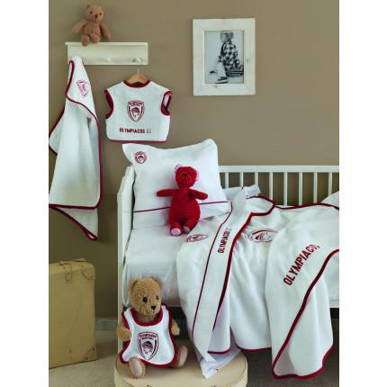 Σεντόνια (Σετ 3 Τμχ) Κούνιας 100% Bαμβάκι Palamaiki Olympiacos Baby Τeam