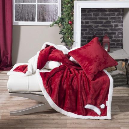 Διακοσμητική Μαξιλαροθήκη 45X45 Teoran Red Hut