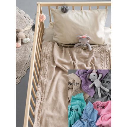 Κουβέρτα Πλεκτή Αγκαλιάς 75x110 Palamaiki Knitted Collection Tail