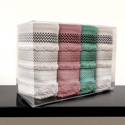 Πετσέτες Χεριών (Σετ 4 Τμχ) 30x50 Sb Home Valeria Όλα Τα Χρωματα