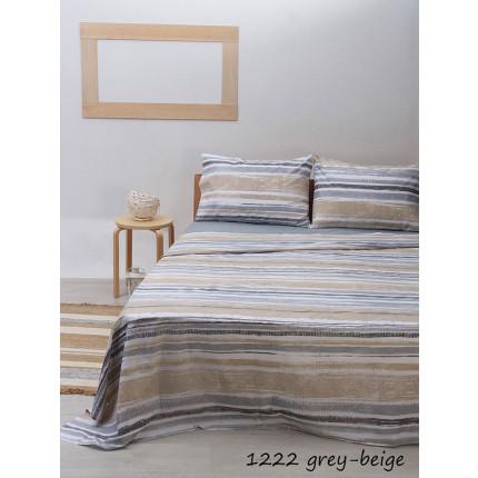 Σεντόνια Μονά (Σετ) Sunshine 1222 Grey-Beige