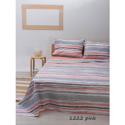 Σεντόνια Μονά (Σετ) Sunshine 1222 Pink