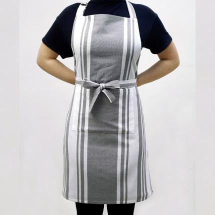 Ποδιά 60X76 Melinen Stripes Grey