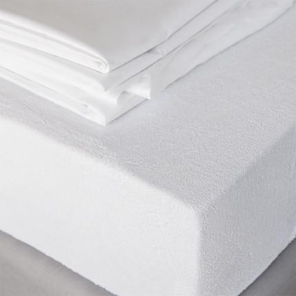 Επιστρώμα Ημίδιπλο 120X200+30 Melinen Φροτέ-Πετσετε Λευκο
