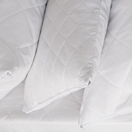 Καπιτονέ Κάλυμμα Μαξιλαριών 50X70 Melinen Ρομβος Λευκο
