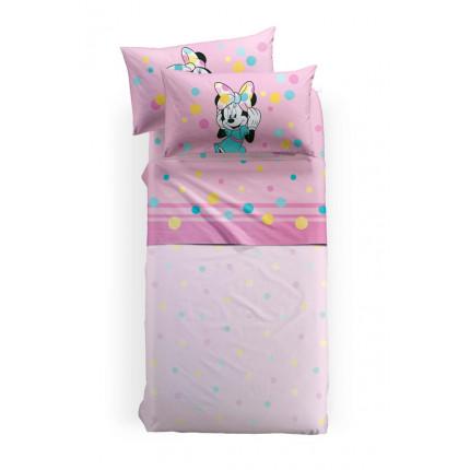 Σεντόνια Μονά (Σετ) 160x270 Palamaiki Disney Minnie Colors Με Λάστιχο
