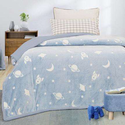 Κουβέρτα Fleece Μονή 160X220 Palamaiki Orbit-2