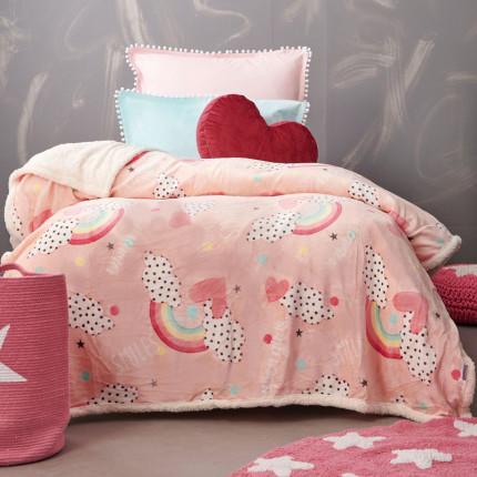 Κουβέρτα Fleece Μονή 160X220 Palamaiki Bebe Blanket Smile