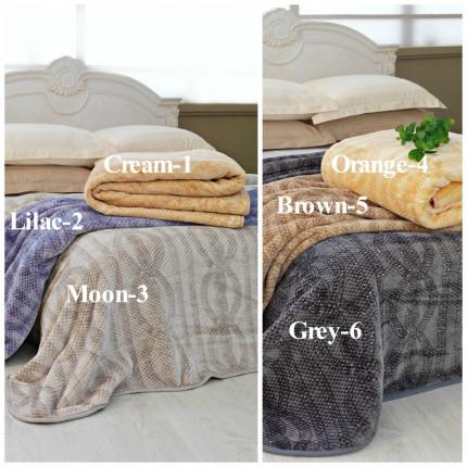 Κουβέρτα Βελουτέ Υπέρδιπλη (Τμχ) 220x240 Smooth Smooth Blankets Palamaiki Beige