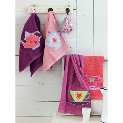 Πετσέτες Κουζίνας (Σετ 4 Τμχ) 40x60 Teapots Palamaiki Kitchen Towels