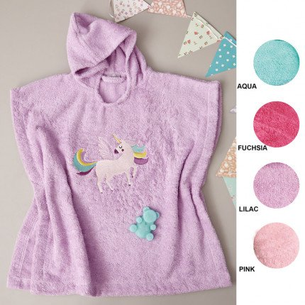 Παιδικό Παιδικό Poncho 60X120 Palamaiki Kids Bathroom Unicorn Magic Pink