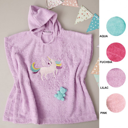 Παιδικό Παιδικό Poncho 60X120 Palamaiki Kids Bathroom Unicorn Magic Fuchsia