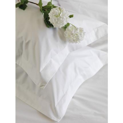 Μαξιλαροθήκη Τεμάχιο 50x75 Palamaiki White Comfort White Plain