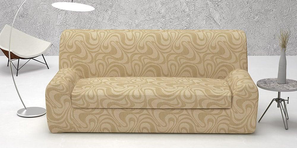 Ελαστικά καλύμματα καναπέ Ξεχωριστό Μαξιλάρι Danubio-Πολυθρόνα-Μπεζ-10+ Χρώματα Διαθέσιμα-Καλύμματα Σαλονιού