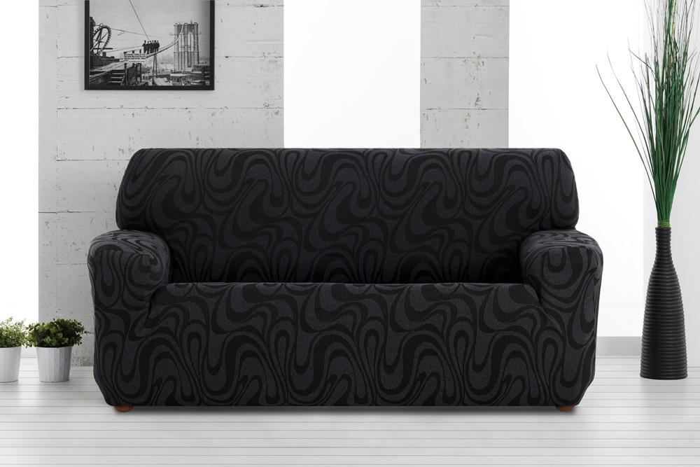 Ελαστικά καλύμματα καναπέ Danubio-Τετραθέσιος-Μαύρο-10+ Χρώματα Διαθέσιμα-Καλύμματα Σαλονιού