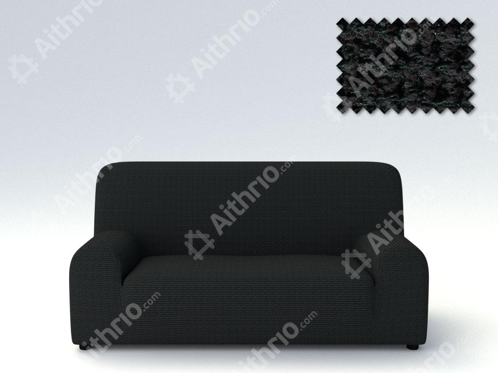 Ελαστικά Καλύμματα Προσαρμογής Σχήματος Καναπέ Elegant – C/11 Μαύρο – Τριθέσιος-10+ Χρώματα Διαθέσιμα-Καλύμματα Σαλονιού
