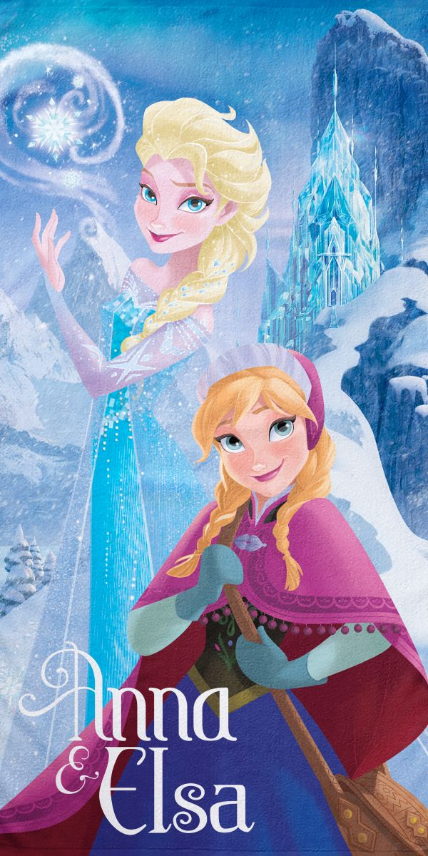 Πετσέτα Θαλάσσης 75×150 RE ELSA&ANNA Palamaiki Disney Collection