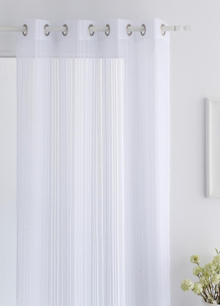 Κουρτίνα Με Τρουκς 140X260 Elsa Λευκό