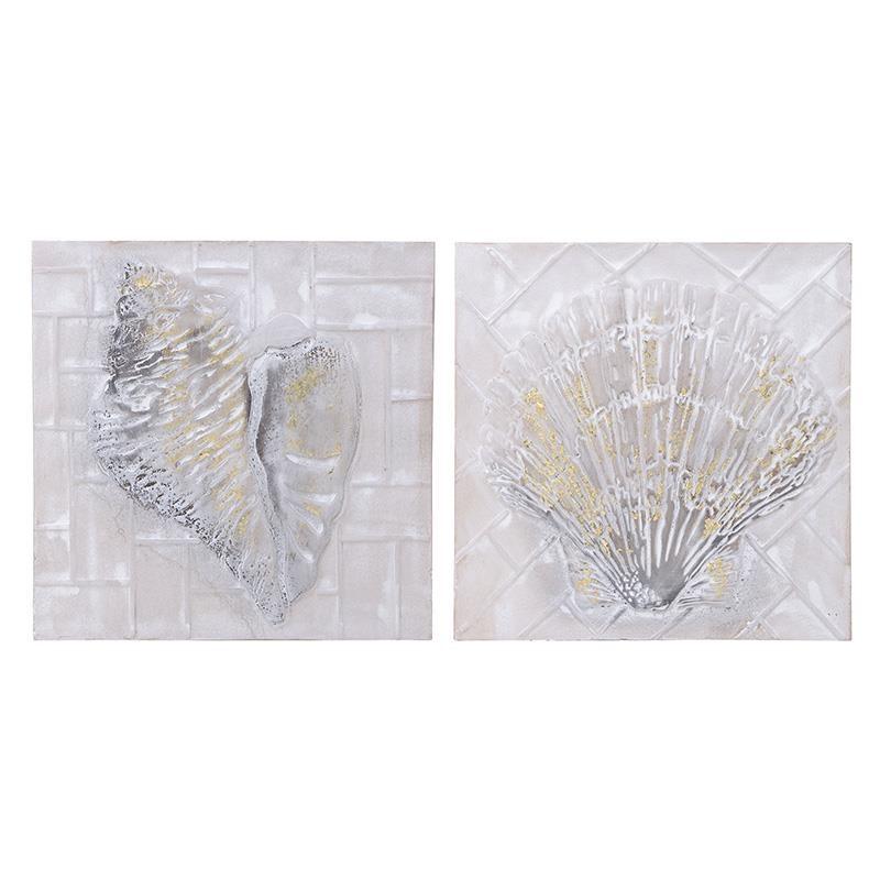 Πίνακας Σε Καμβά Σετ Των 2 Inart 3-90-519-0195