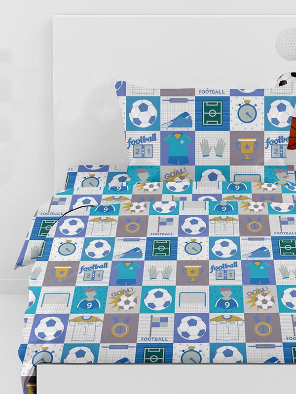 Σεντόνια Μονά (Σετ) 160×260 Football 10