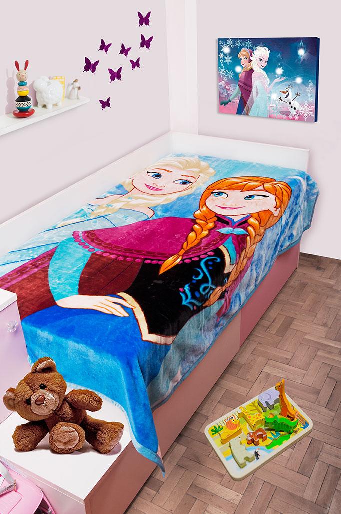 Παιδική Κουβέρτα Βελουτέ Disney 160×220 FROZEN 501 Digital Print