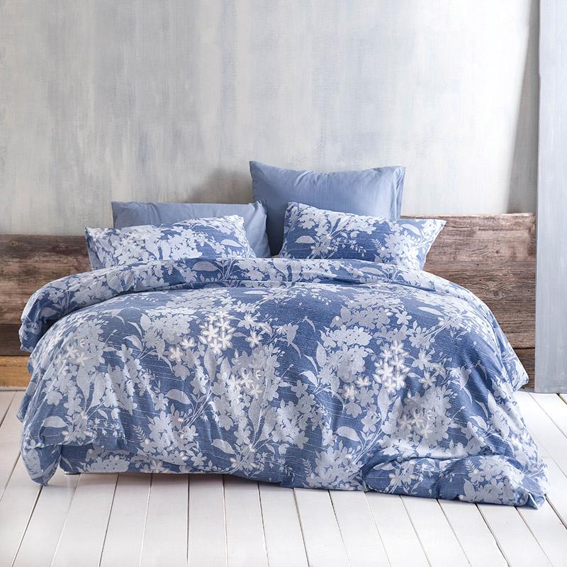 Σεντόνια Μονά (Σετ) 160X260 Rythmos Fyllo Μπλε Χωρίς Λάστιχο