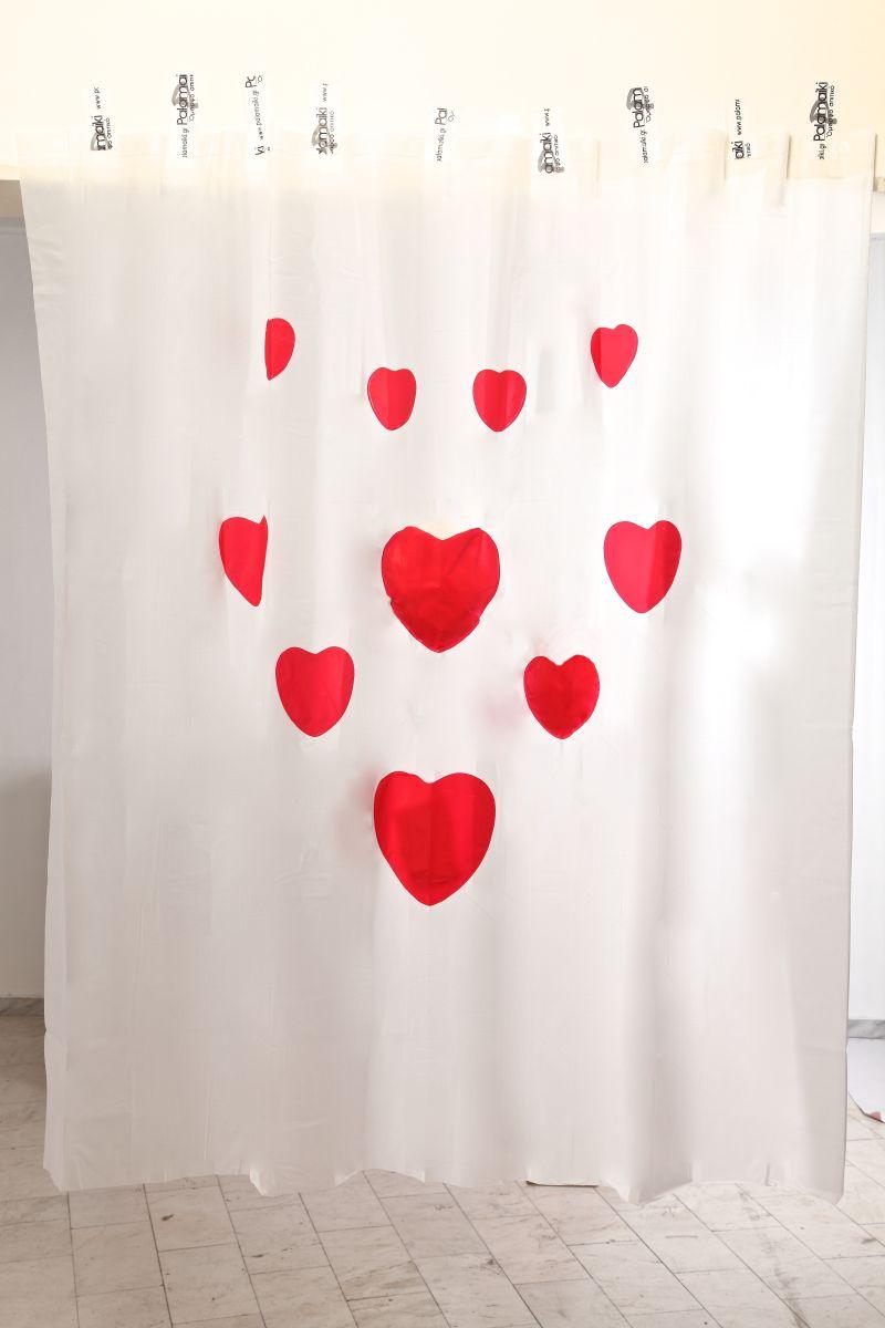 Κουρτίνα Μπάνιου 180x200 Hearts Palamaiki Shower Curtain λευκά είδη μπάνιο κουρτίνες μπάνιου