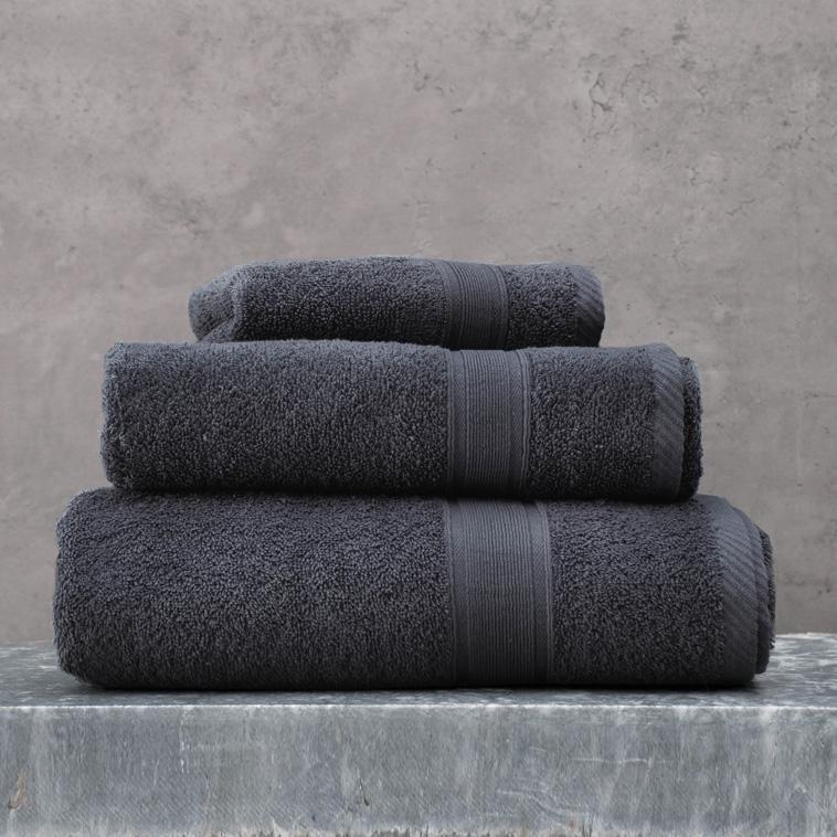 Πετσέτα Μπάνιου 100X150 Rythmos Illusion Γκρι Σκουρο