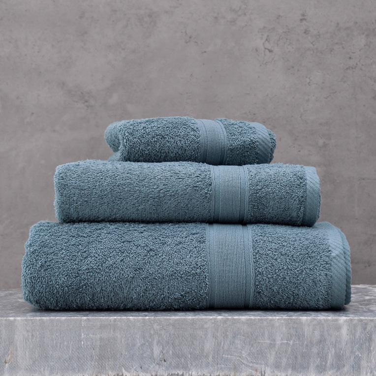 Πετσέτες Μπάνιου (Σετ 3 Τμχ) Rythmos Illusion Ντενιμ