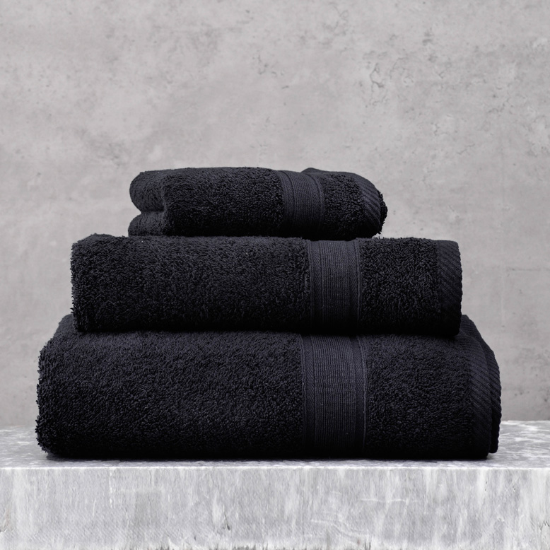 Πετσέτα Μπάνιου 70X140 Rythmos Illusion Μαυρο