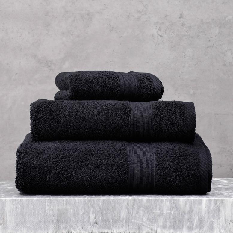Πετσέτες Μπάνιου (Σετ 5 Τμχ) Rythmos Illusion Μαυρο
