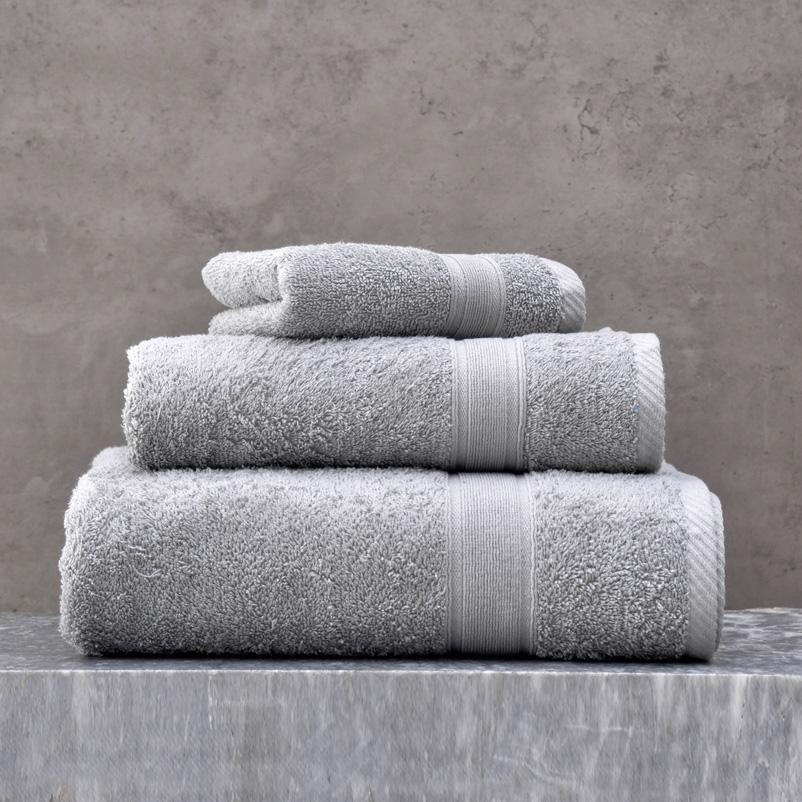 Πετσέτες Μπάνιου (Σετ 5 Τμχ) Rythmos Illusion Ασημι