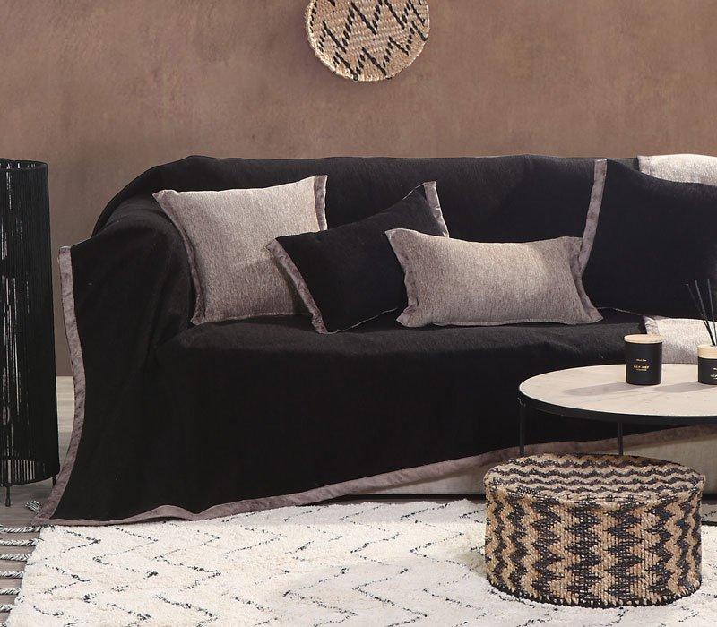 Ριχτάρι Τριθέσιου 180×300 Nef Nef New Tanger Black/Beige