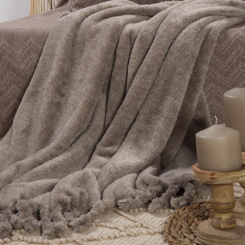 Κουβέρτα Καναπέ 130×170 Nef Nef Cationing Beige