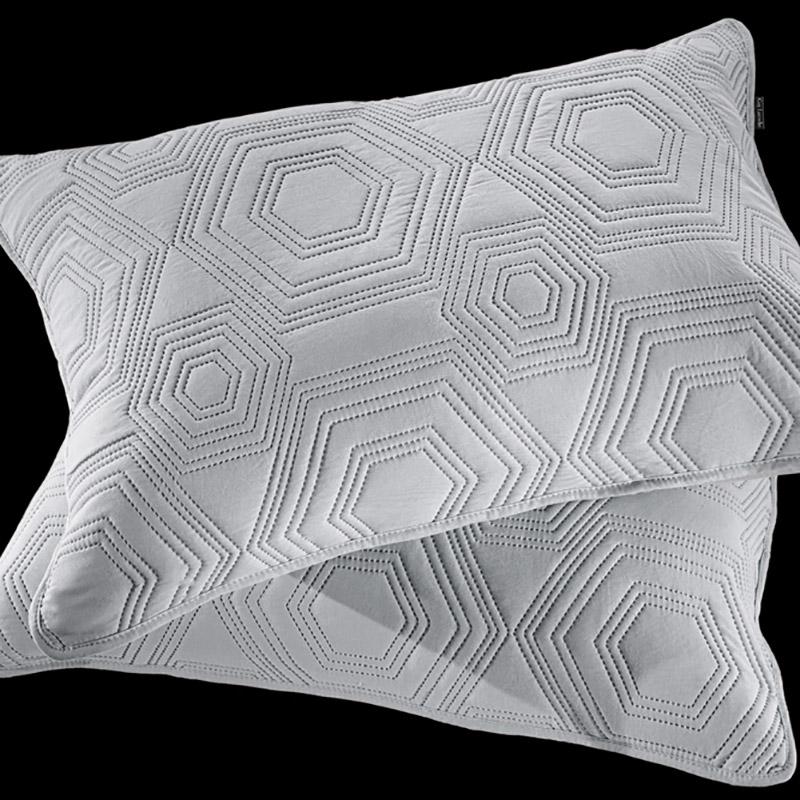Μαξιλαροθήκες Ζεύγος 50×70 Guy Laroche Lilly Silver (50×70)