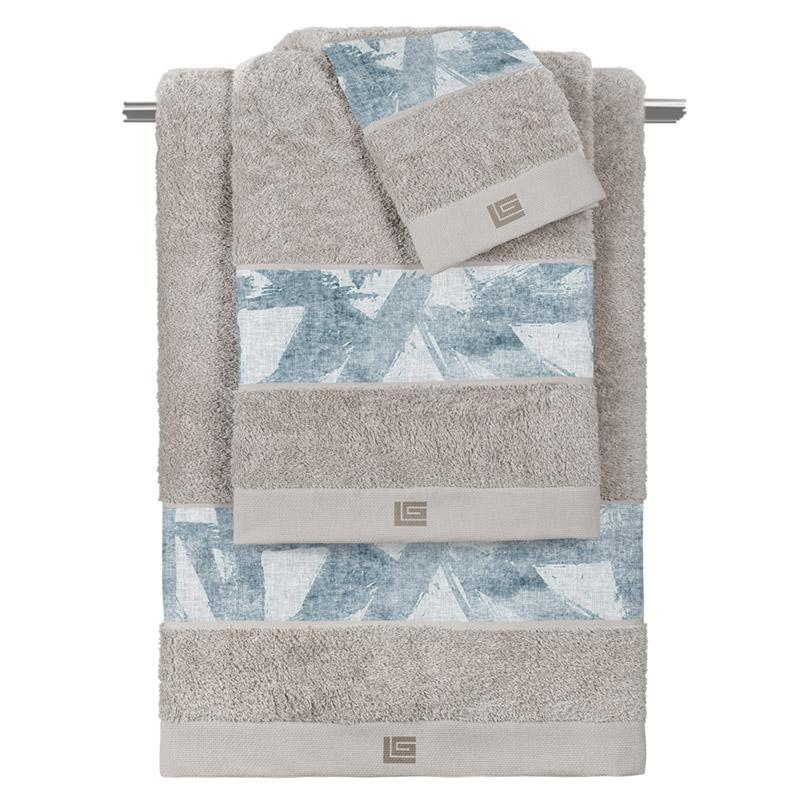 Πετσέτες Μπάνιου (Σετ 3 Τμχ) Guy Laroche Finesse Silver-Sky