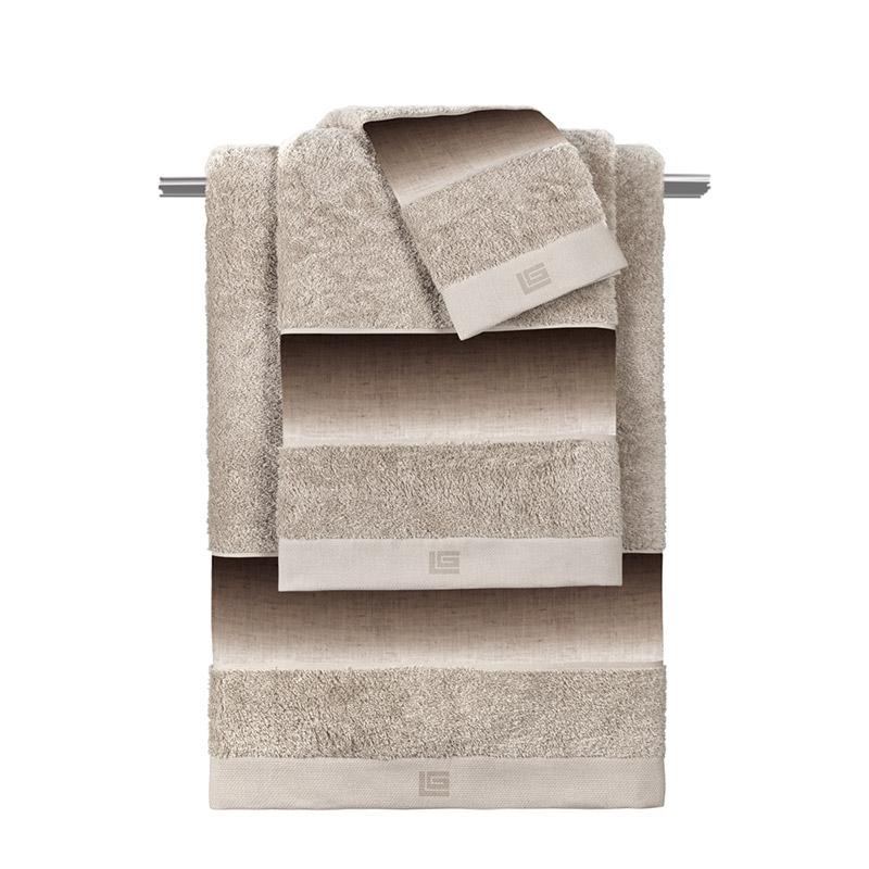 Πετσέτες Μπάνιου (Σετ 3 Τμχ) Guy Laroche Mykonos Beige