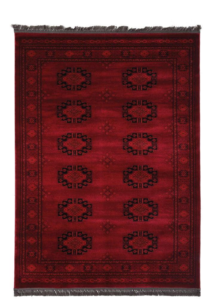 Χαλιά Κρεβατοκάμαρας (Σετ 3 Τμχ) Royal Carpet Afgan 0.67X5.00Bedset – 6871H D.Red