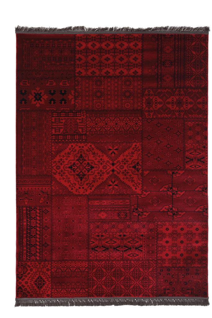 Χαλί Σαλονιού Royal Carpet Afgan 1.33X1.90 – 7675A D.Red