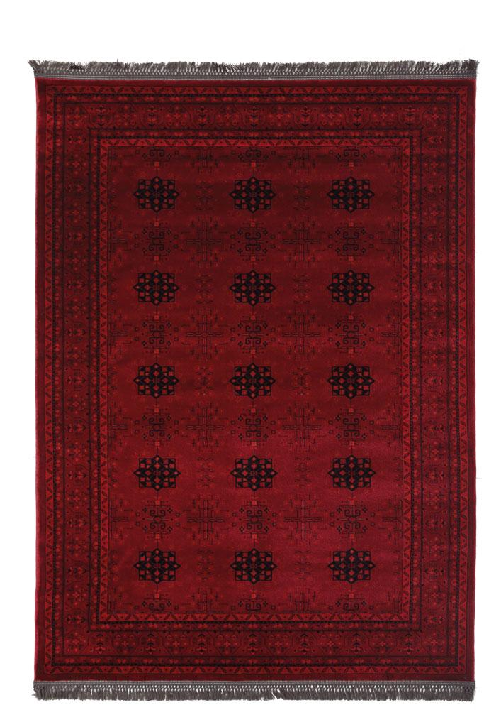 Χαλί Σαλονιού Royal Carpet Afgan 1.60X2.30 – 8127A D.Red
