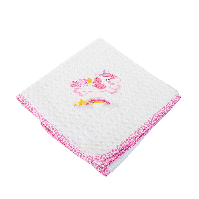 Κουβέρτα Πικέ Λίκνου 80X110 Dimcol Unicorn 42 Ροζ