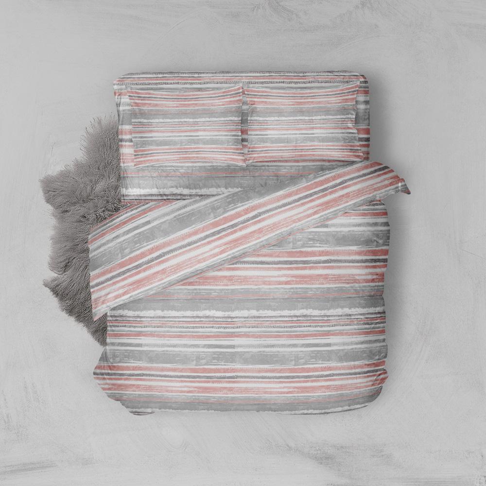 Φανελένια Σεντόνια Υπέρδιπλα (Σετ) 100% Βαμβάκι 1222 Pink