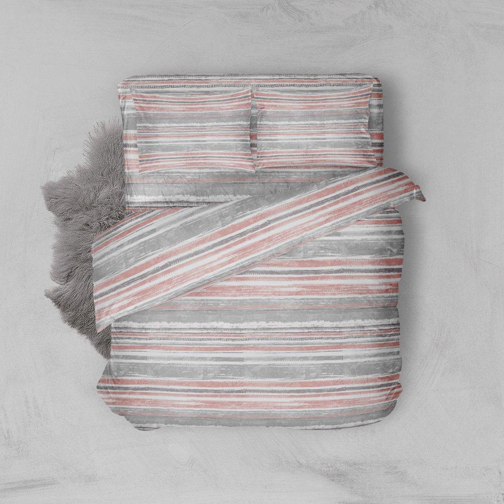 Φανελένια Σεντόνια Διπλά (Σετ) 100% Βαμβάκι 1222 Pink