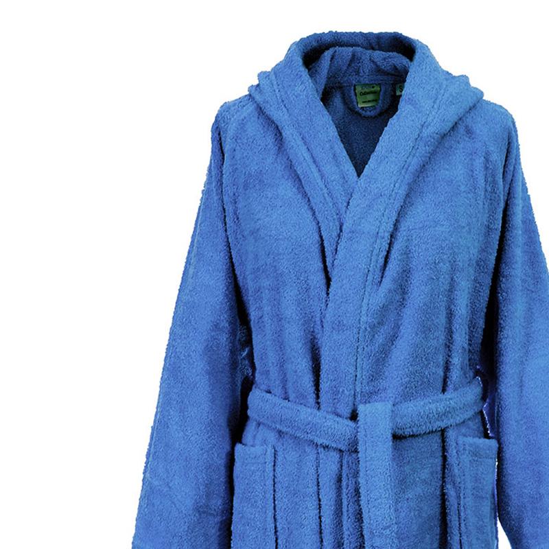 Μπουρνούζι Με Κουκούλα Large Dimcol 3010 Μπλε